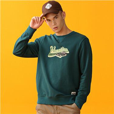 Letter crewneck long-sleeve sweatshirt