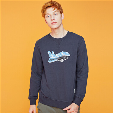 Letter crewneck long-sleeve sweatshirt