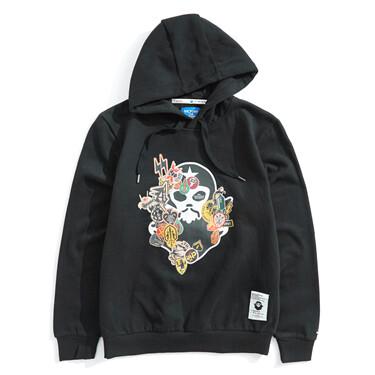 Von printed long-sleeve hoodie