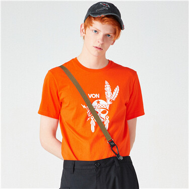 VON头像印花圆领短袖T恤