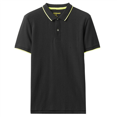Contrast tipping polo shirt