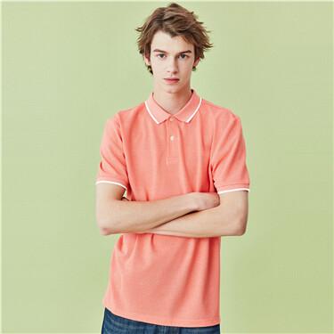 Pique Short Sleeve Slim Polo Shirt