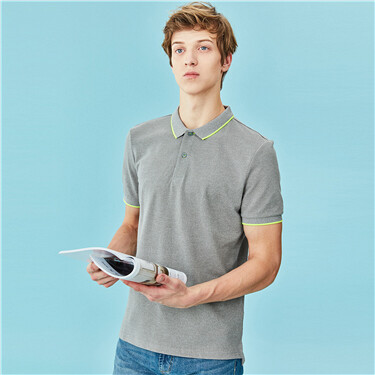 Pique Short Sleeve Slim Polo Shirt