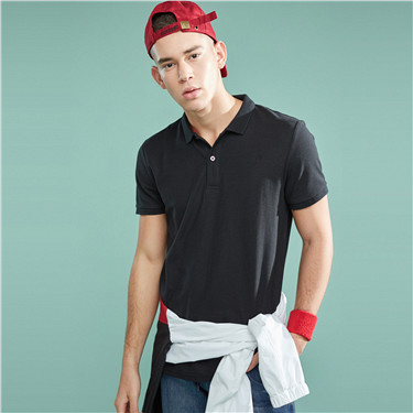 Pique Short Sleeve Slim Polo S