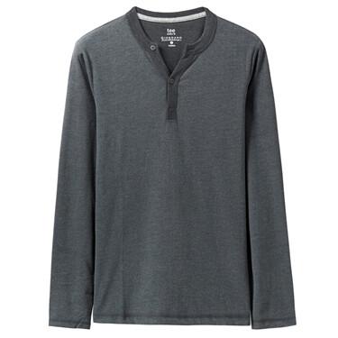 纯色修身长袖T恤