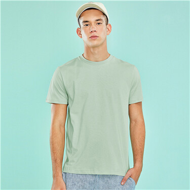 Short sleeve solid tee