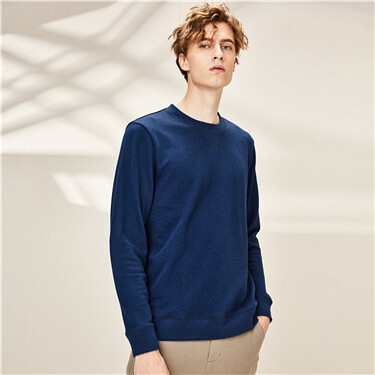 Solid slim crewneck sweatshirt