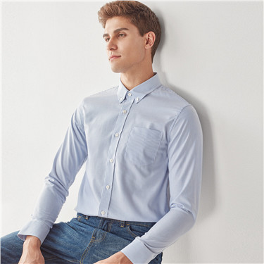 Wrinkle-free cotton oxford long sleeve shirts