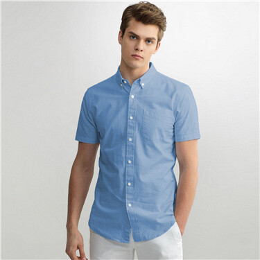 Short-sleeve slim fit shirt