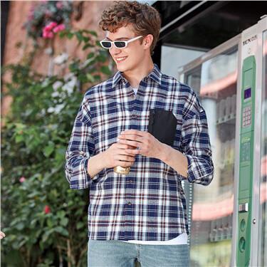 Flannel Plaid Long-Sleeve Shirt