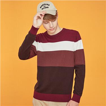 Jacquard half-turtleneck sweater