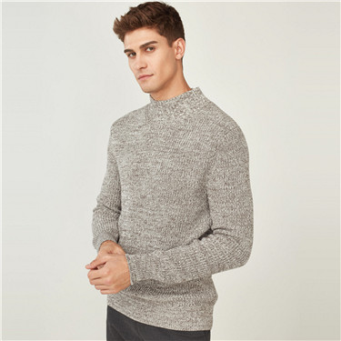 Thick long-sleeve pullover sweater