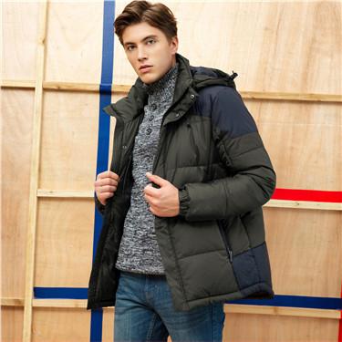 Plain windproof down jacket