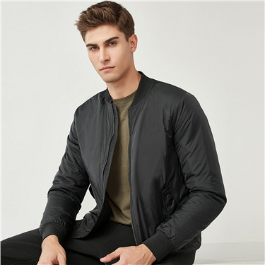 Baseball collar quilted jacket