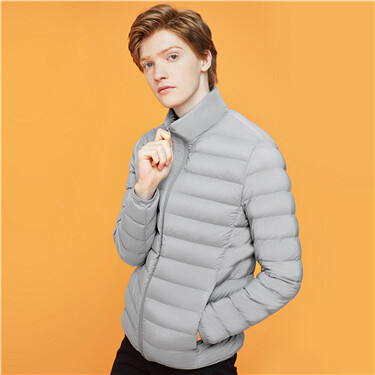 Stand collar 90% white duck short down jacket