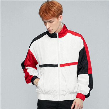 Stand collar windbreaker
