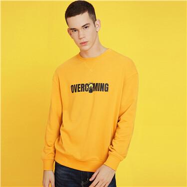 Letter loose crewneck sweatshirt