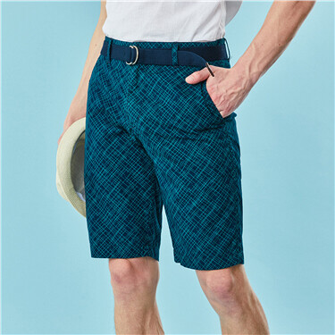 Solid Cotton Bermuda (with belt)