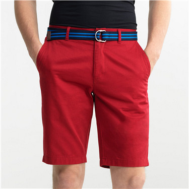 Solid cotton bermuda(with belt)