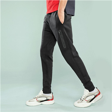 Double knitted zip joggers (Men)