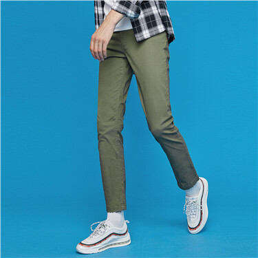 Stretchy five-pocket slim pants