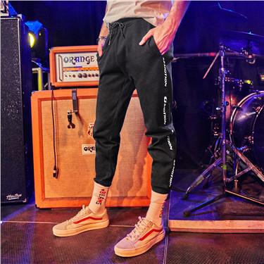 简约束脚休闲长裤