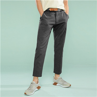 Mid-low rise ankle-length pants