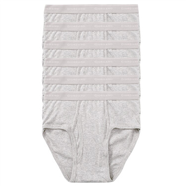 6 pcs brand logo elastic waistband brief