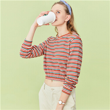 Stripe short tee