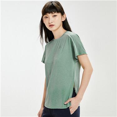 黑科技凉感薄款撞色肩运动短袖T恤