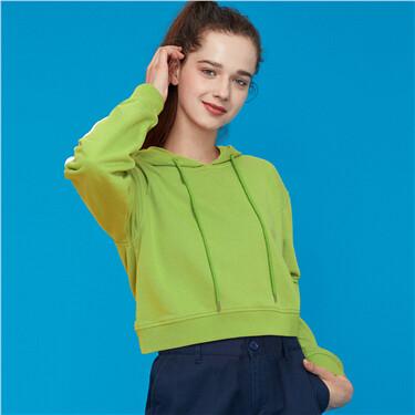 Solid kanga pocket hoodie