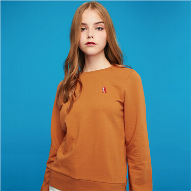 Embroidery crewneck sweatshirt