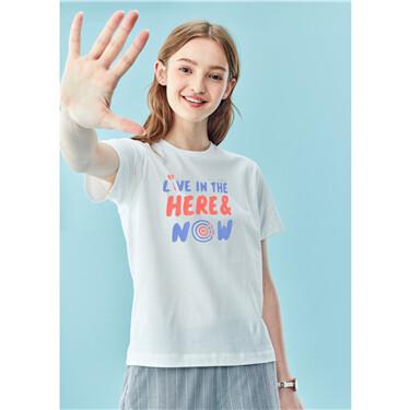 趣味印花纯棉圆领短袖T恤