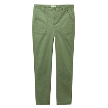 Solid mid-rise ankle-length casaul pants