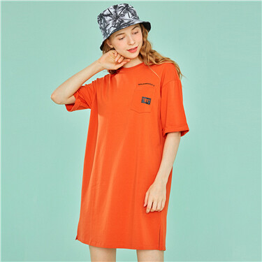 Pocket crewneck dress