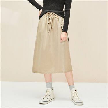 Cargo patch pockets skirt