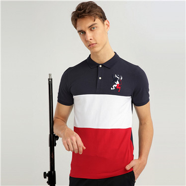 Union Jack embroidery polo