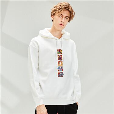 Printed long sleeves hoodie