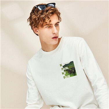Crewneck printing loose sweatshirt