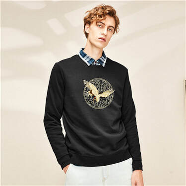 Printed o-neck sweatshirt