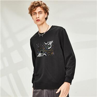 Printed crewneck sweatshirt