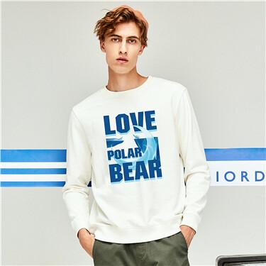 Printed o-neck sweatshirt