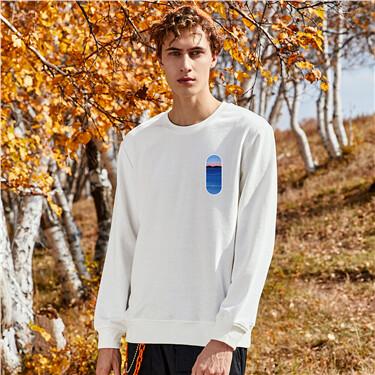 Printing loose crewneck sweatshirt