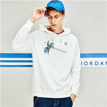 Printed Hooded Sweatshirt