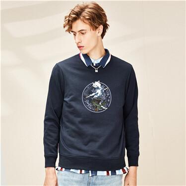 Printing crewneck sweatshirt
