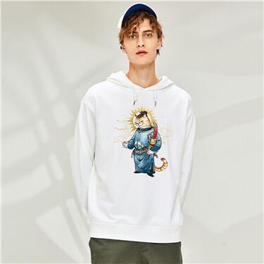 Printing loose Casual hoodie