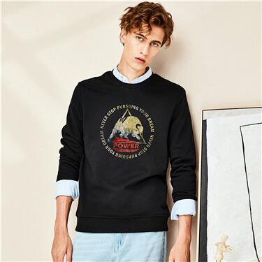 Crewneck printed sweatshirt