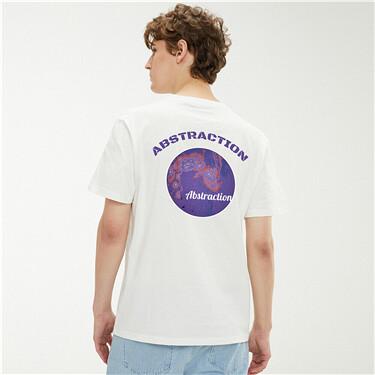 Printed crewneck short sleeves t-Shirt