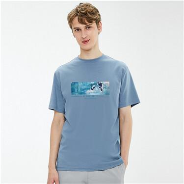 【艺术家黄守义联名】佐丹奴男装夏季抽象潮牌设计感T恤