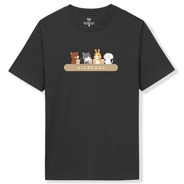 Printed animal crewneck cotton tee